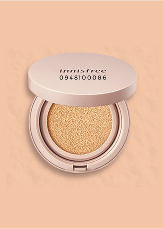 Beige color Face . Innisfree Skin Fit Glow Cushion Foundation 23N 14g -