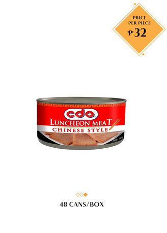 No Color color Canned Food . CDO Luncheon Meat Chinese Style, 165g (48 Cans/Box) -