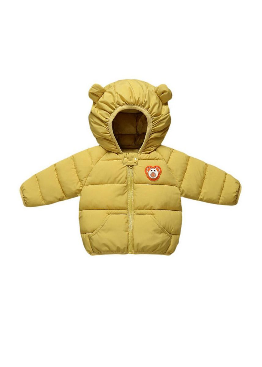 Yellow color Jackets . Children's Hooded Lightweight Jacket -