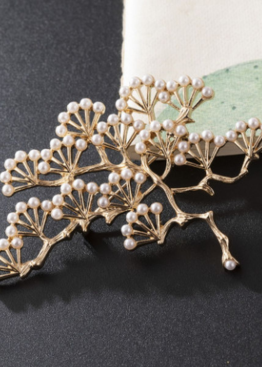 Gold color Other . New Style Full Pearl Ancient Pine Brooch -