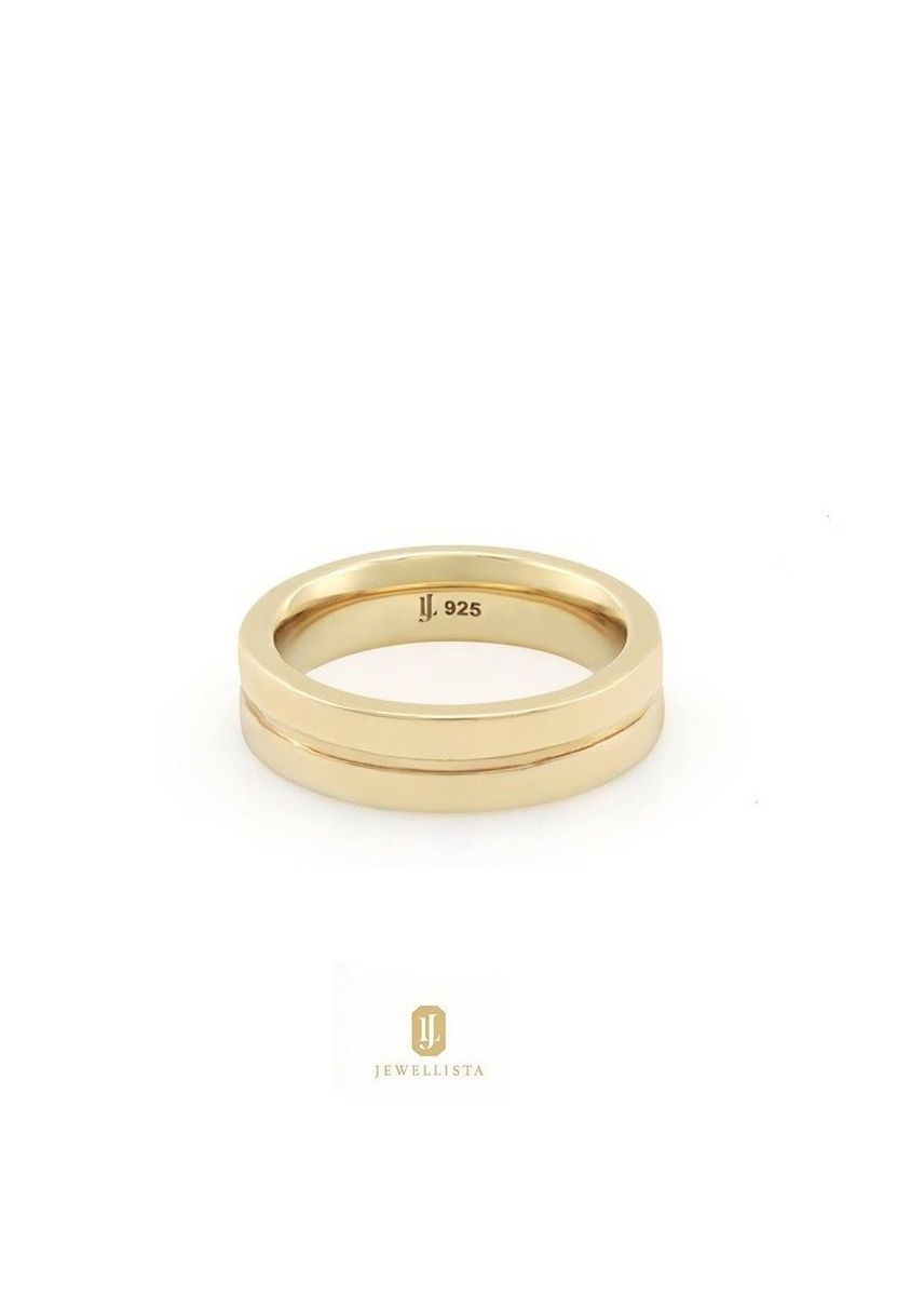 Gold color  . Jewellista แหวน Rebecca เงินแท้ 925 ชุบ Rhodium, 14K Yellow gold , Rose gold -