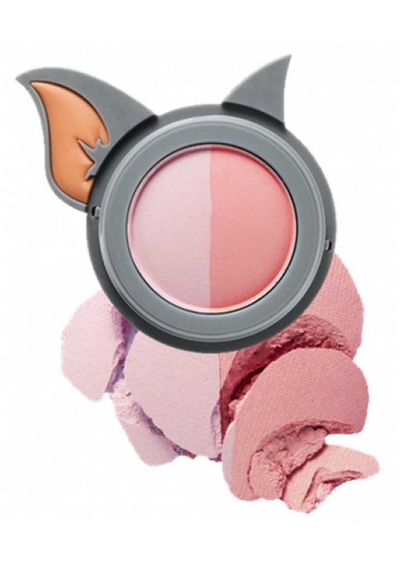 Multi color Face . Etude House Lucky Together Cheek Dome Pact Blusher PK002 3g -