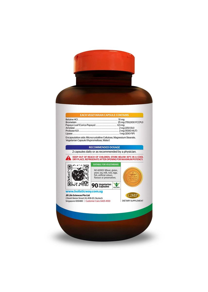No Color color  . Holistic Way Digestive Enzymes (90 Vegetarian Capsules) -