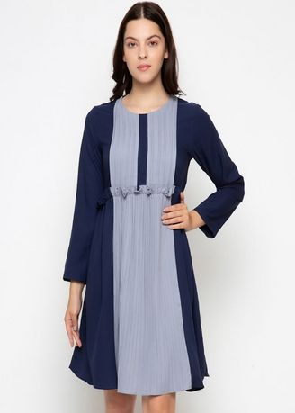 Navy color Dresses . PURICIA DRESS ISABELLA -