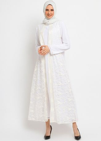 White color Dresses . PURICIA GAMISH DURAH -