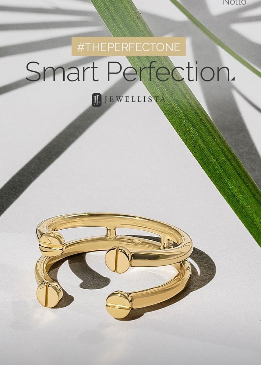 Gold color  . Jewellista แหวน Notto เงินแท้ ชุบ 14k Yellow gold -