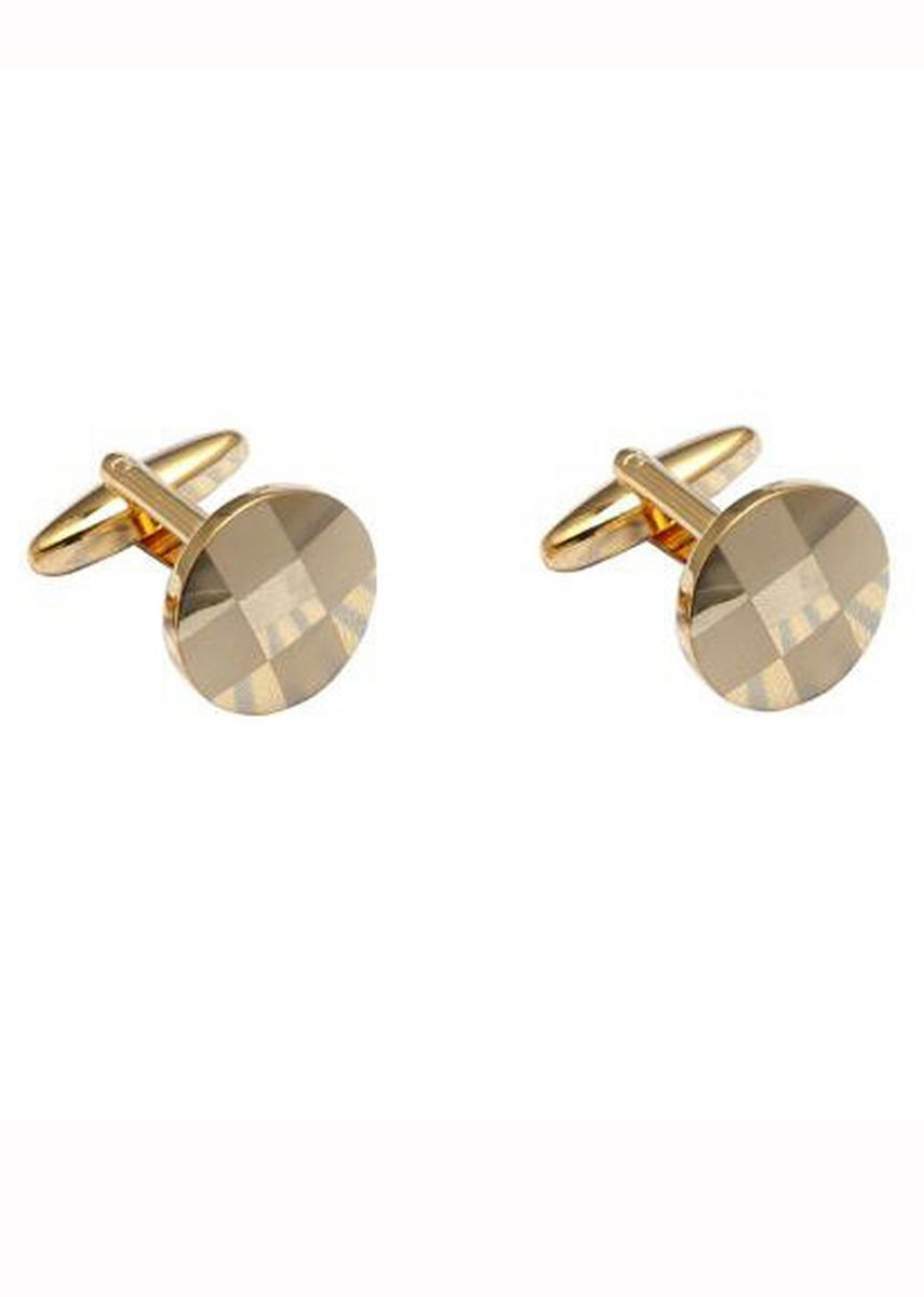 Gold color Cufflinks . New Laser Plaid Cufflinks -