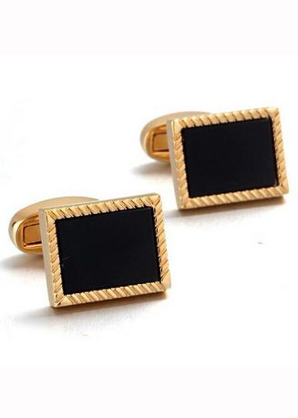 Black color Cufflinks . Business French Shirt Sleeve Copper Cufflinks -