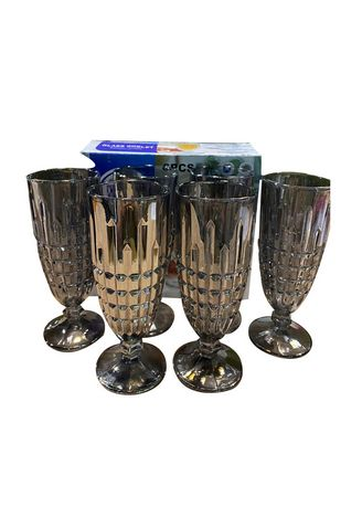 Grey color Barware . MY06A Flute Glass, 250ml (Set of 6) -