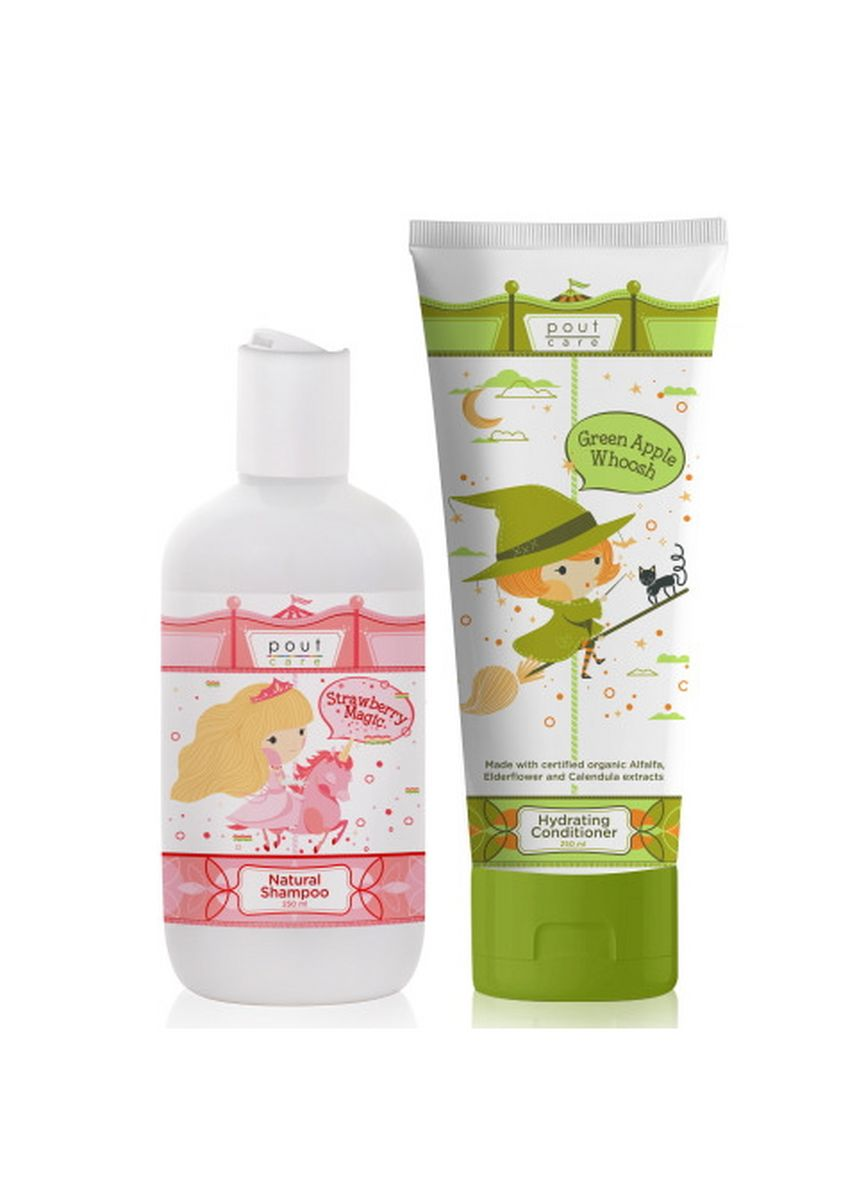 No Color color Hair Wash . pout Care Natural Shampoo and Hydrating Conditioner Bundle -