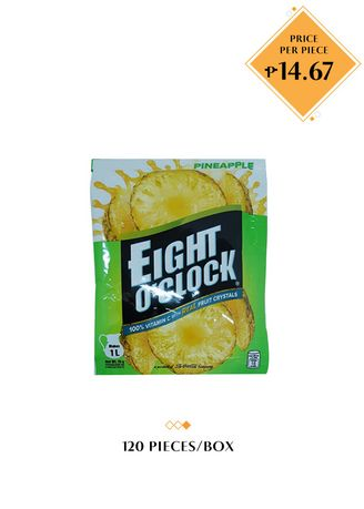 No Color color Juices . Eight O'Clock Litro Pack - Pineapple, 25g (120 Pieces/Box) -