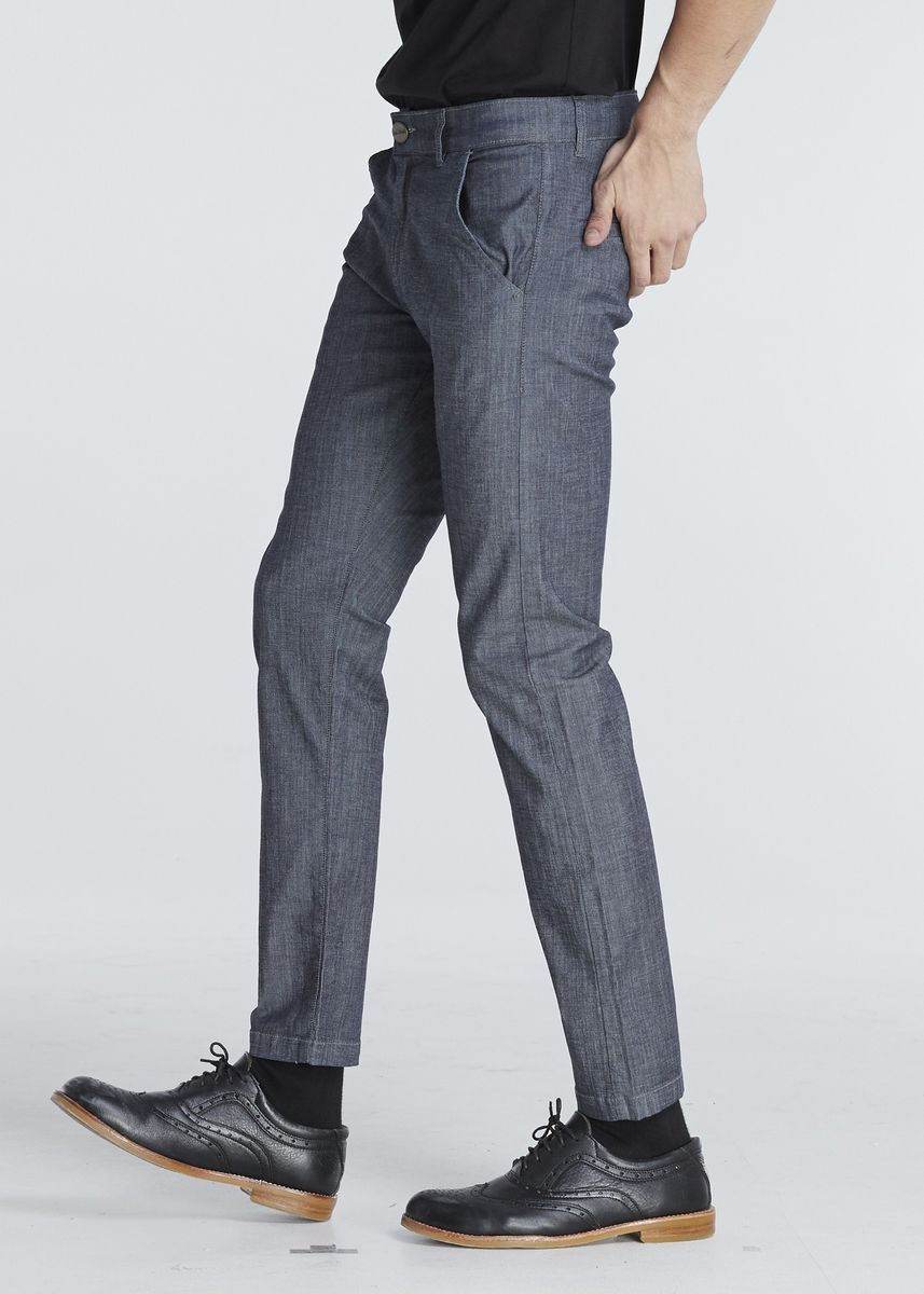 Grey color Casual Trousers and Chinos . JACK RUSSEL กางเกงผ้า Chambray J-325 -