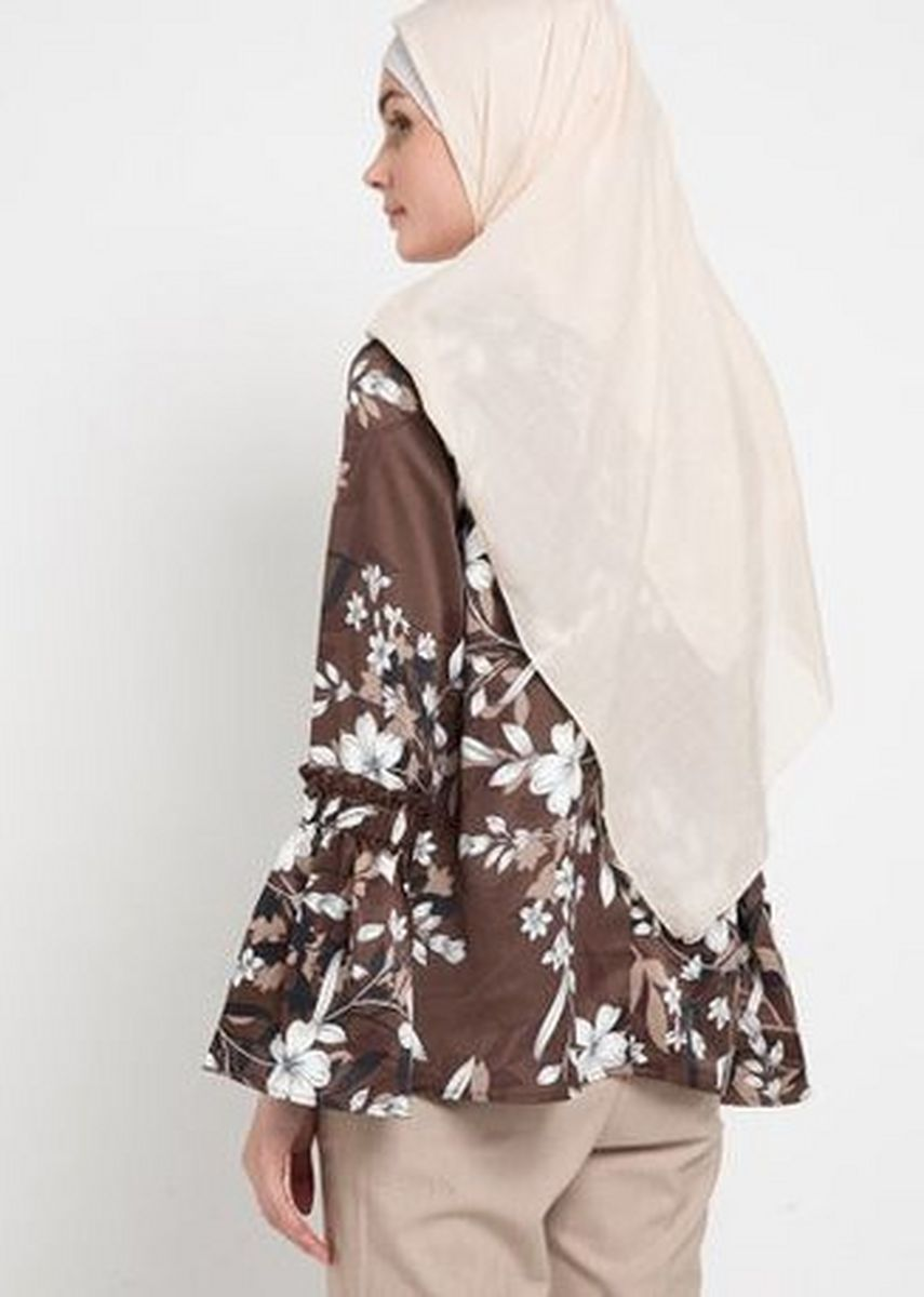 Cokelat color Atasan & Tunik . RA Hijab - HANDBELA M Brown -
