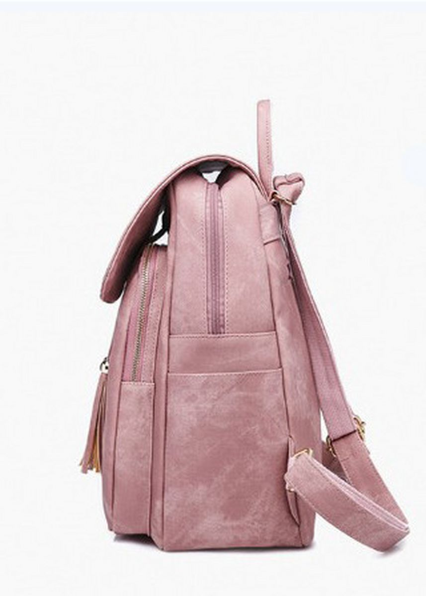Pink color Backpacks . New Fashion Korean Women's Tassel Backpack -