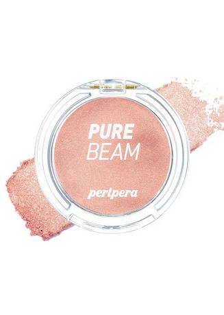 Beige color Face . Peripera Brightly Shiny Flash Cheek Pact Blusher No. 1 -