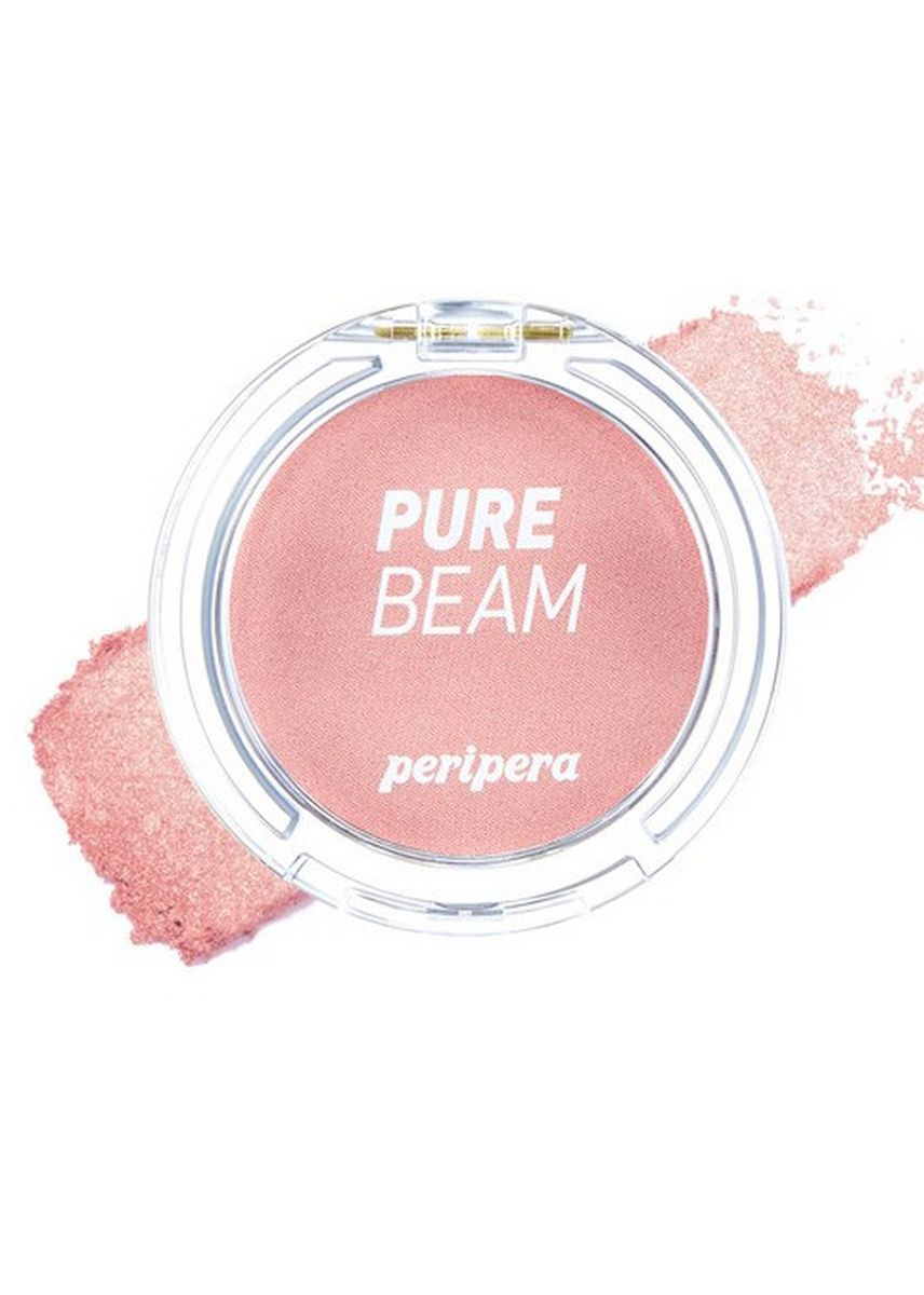 Pink color Face . Peripera Brightly Shiny Flash Cheek Pact Blusher No. 2 -