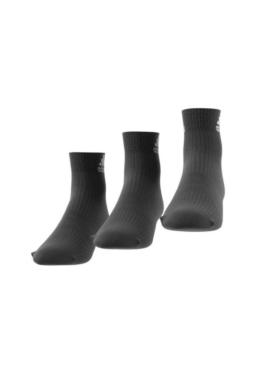 Black color Socks . Adidas 3S Per An HC 3p AA2286 สีดำ Black -