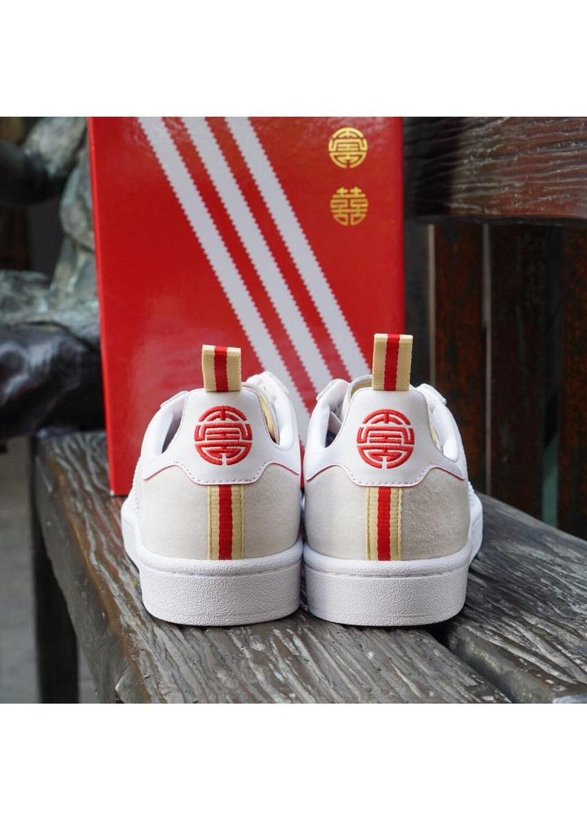 White color Casual Shoes . Adidas รองเท้า Campus CNY รุ่น DB2568 (White) -
