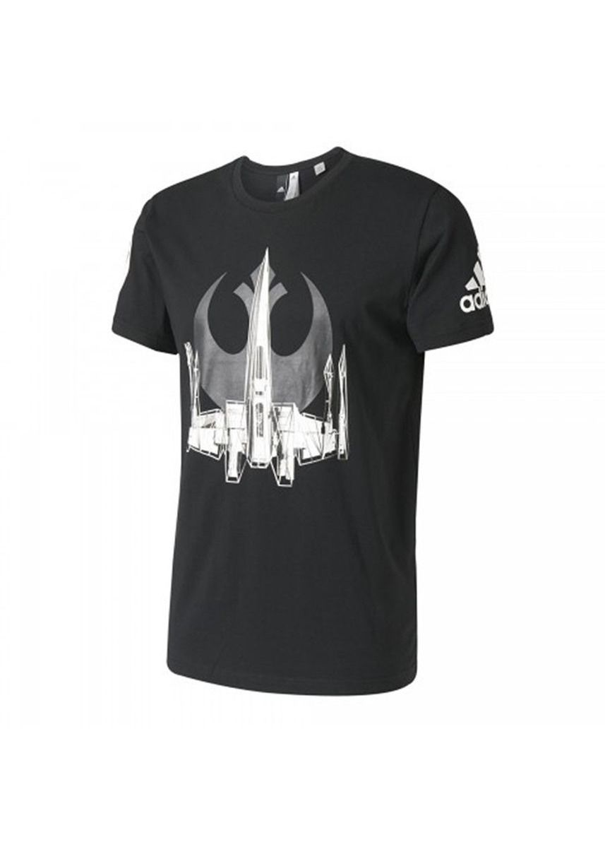 T-Shirts and Polos . Adidas X Star Wars เสื้อยืด X-Wing Tee รุ่น BK2840 สีดำ (Black) -