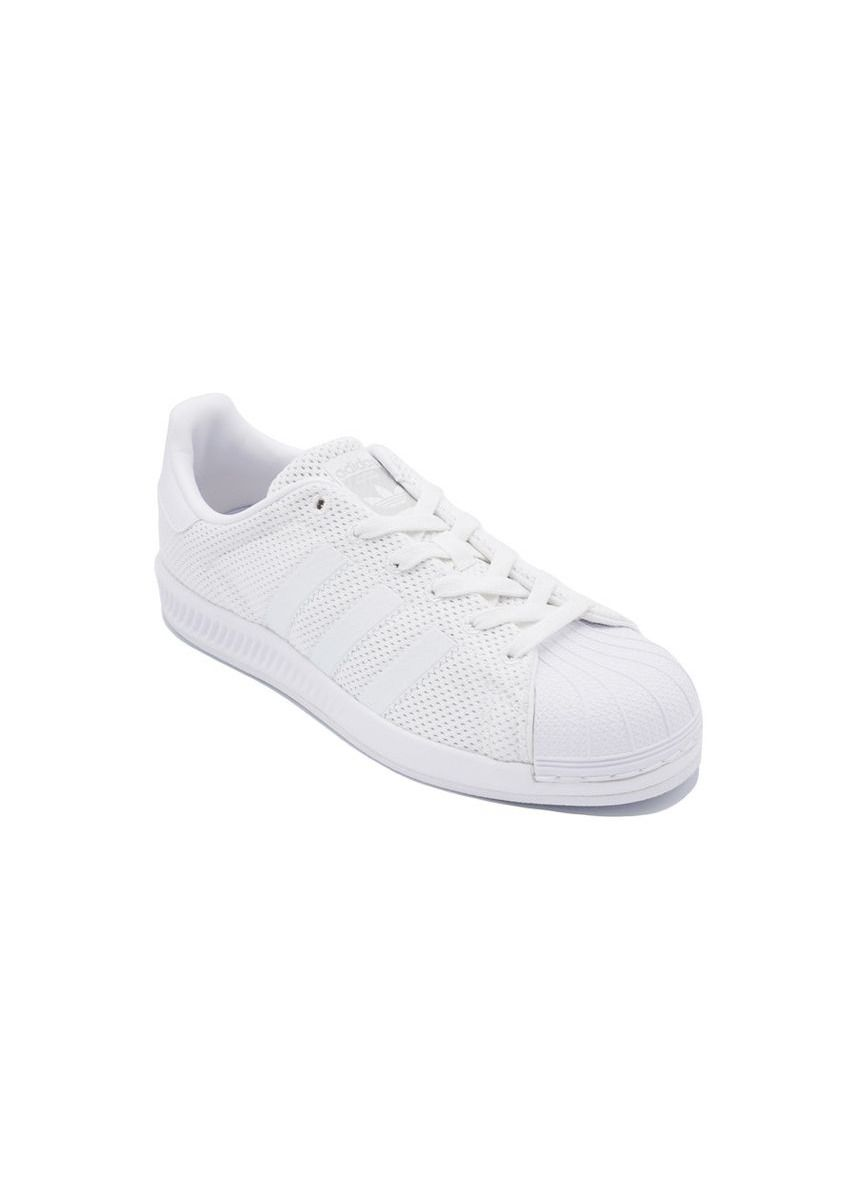 White color Casual Shoes . Adidas รองเท้า Superstar Bounce J ขาว -