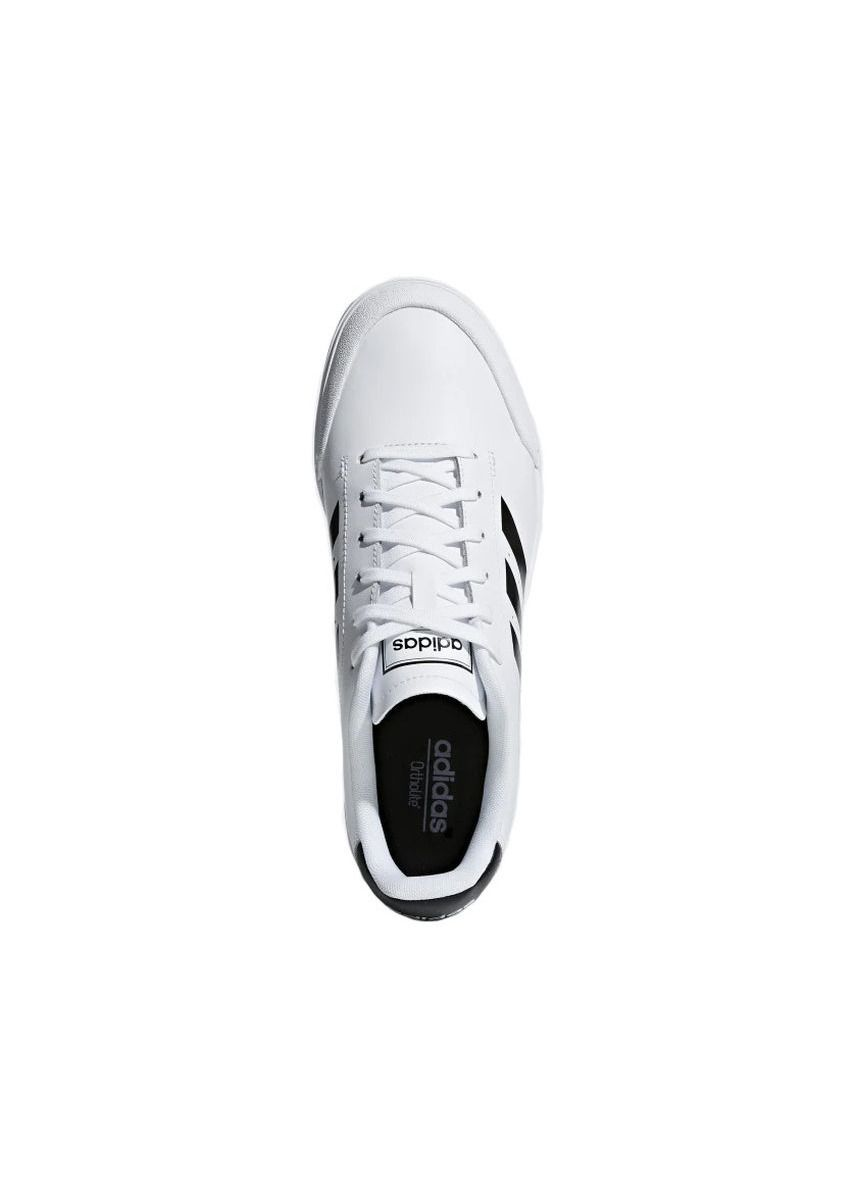 White color Casual Shoes . รองเท้า Adidas Court 70s B79774 สีขาวคาดดำ -