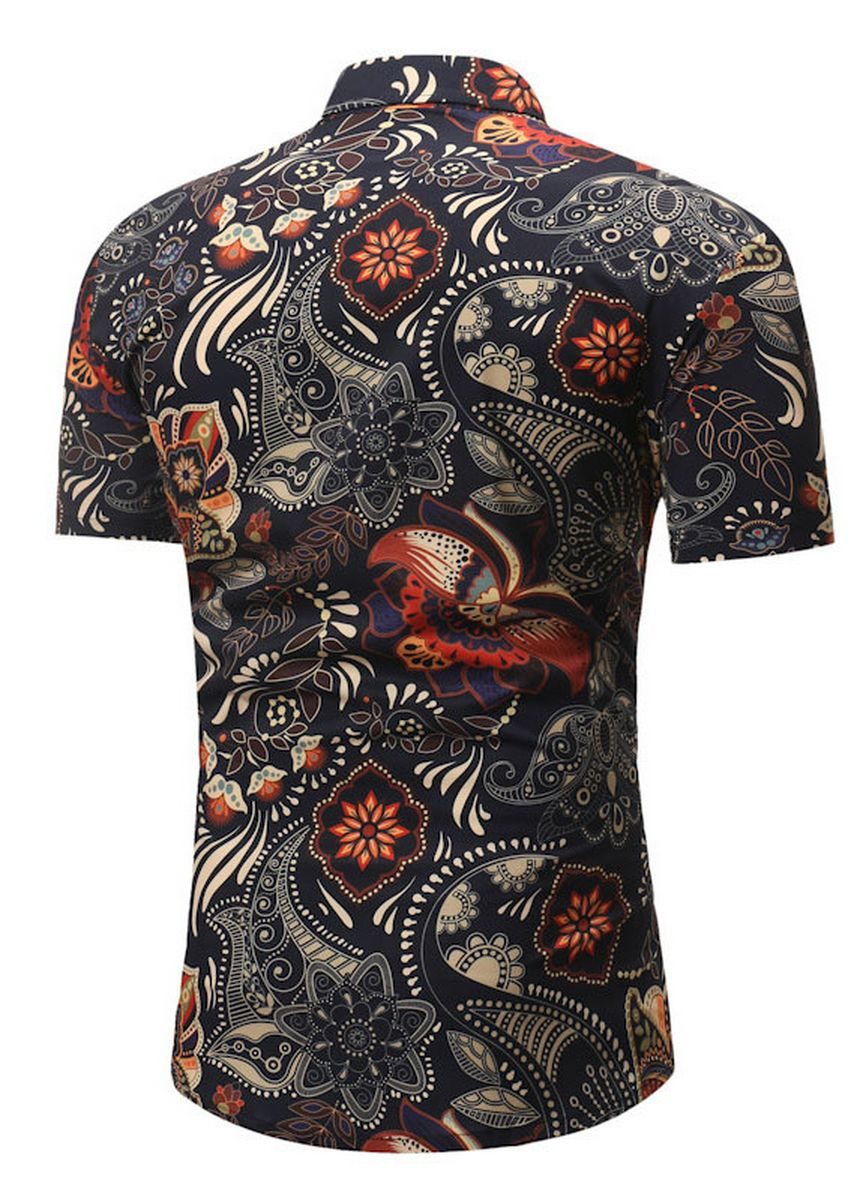 Multi color Casual Shirts . New Men's Casual Short-sleeved Floral Shirt -