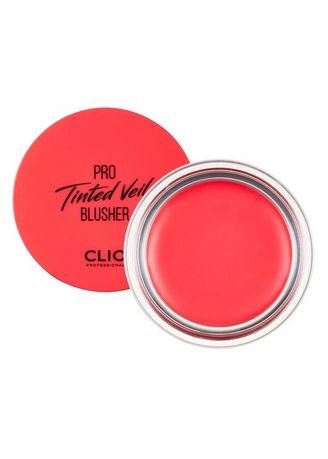Red color Face . Clio Pro Tinted Veil Cream Blusher No. 1 4.5g -