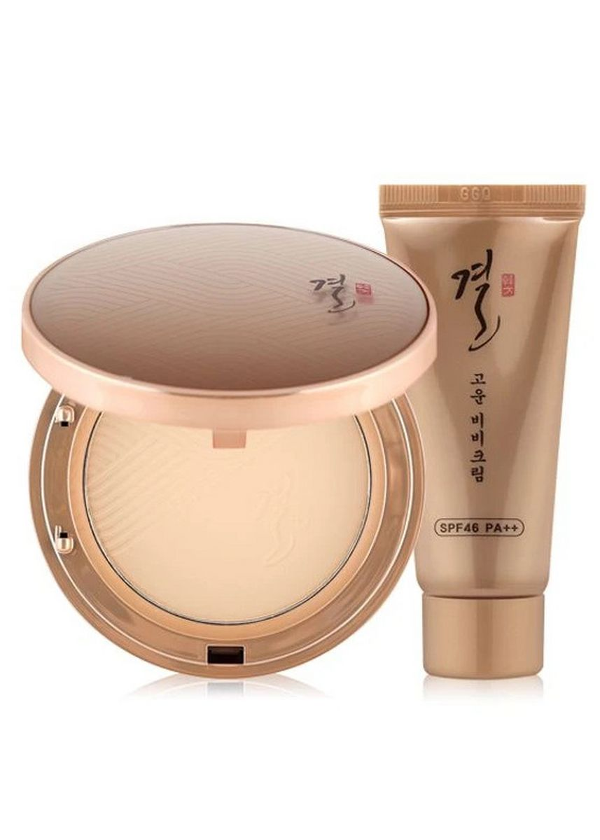 Beige color Face . Tony Moly Gyeol Fine Two-Way Pact 02 SPF48 PA+++ -