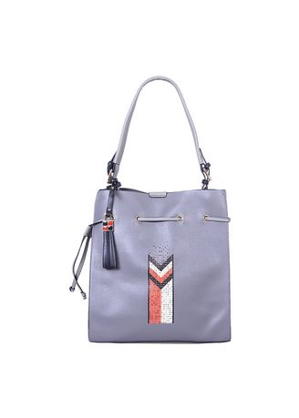 Grey color Hand Bags . Handbag Bellezza 18077-38 Dark Grey -