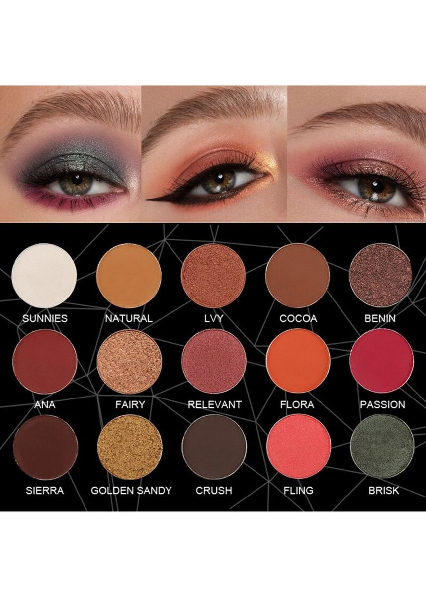 มัลติ color ตา . Seprofe Cosmetics Black Diamond-16 colors Waterproof Palette 30g -