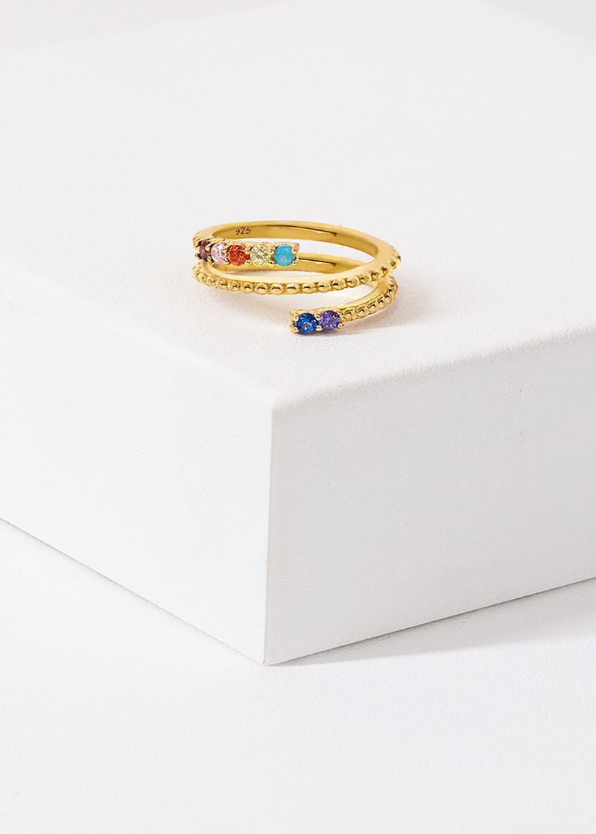 ทอง color  . Aevari Harmonious Spectrum Ring -
