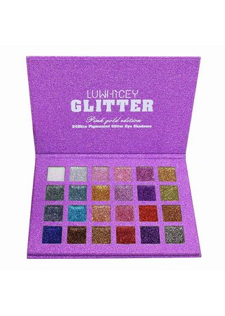 Multi color Eyes . Ultra Pigmented Glitter Summer Pink gold Palette -