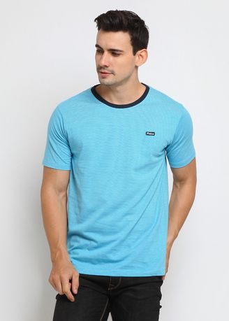 Blue color T-Shirts and Polos . POLICE Kaos Salur Patch Pria -