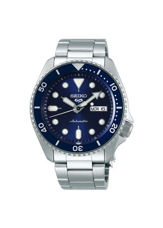 Silver color Analog . Seiko Men's Watches 5 Sports Automatic SRPD51K1 Blue -