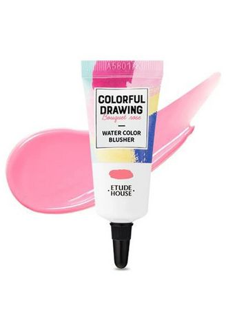 Pink color Face . Etude House Colorful Drawing Paint Blusher PK001 10g -
