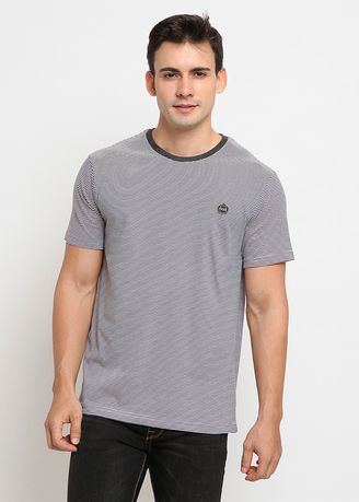 Grey color T-Shirts and Polos . POLICE Kaos Patch Salur Pria -