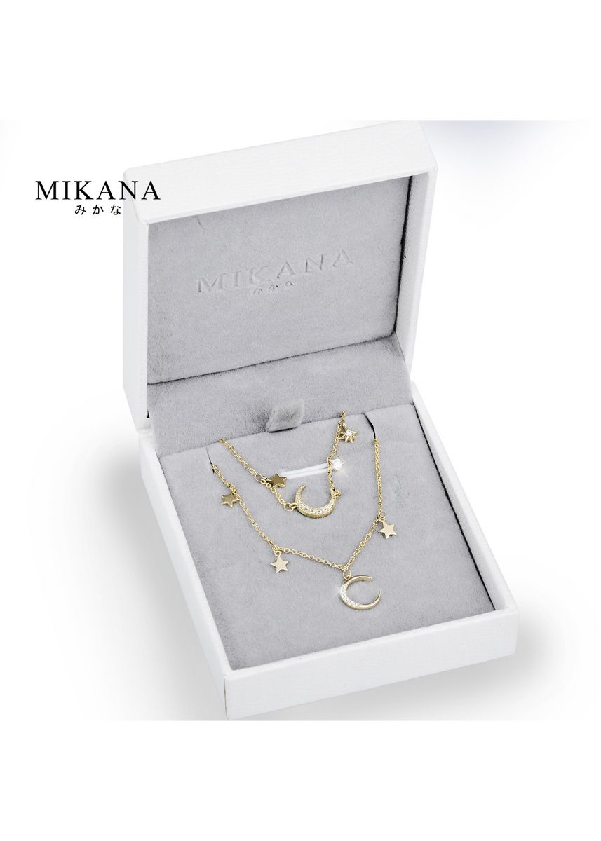 Gold color  . Mikana 18k Gold Plated Crescent Moon Jewelry Set Accessories For Women -