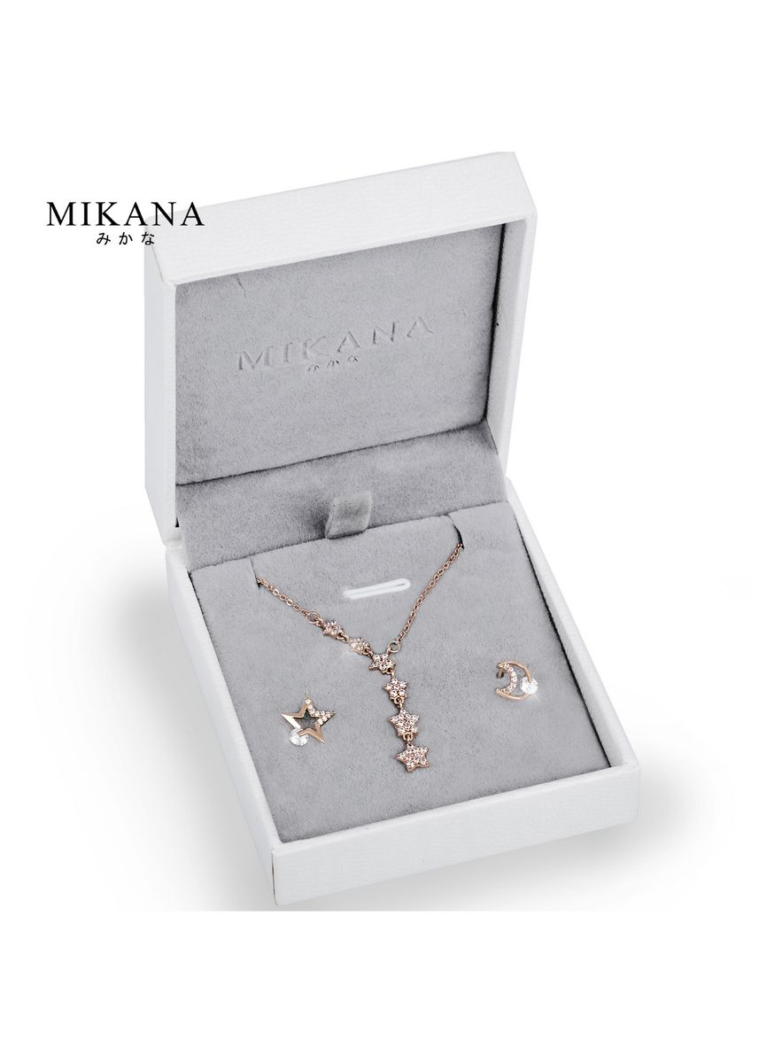 Gold color  . Mikana 18k Rose Gold Plated Wishing Star Jewelry Set Accessories For Women -