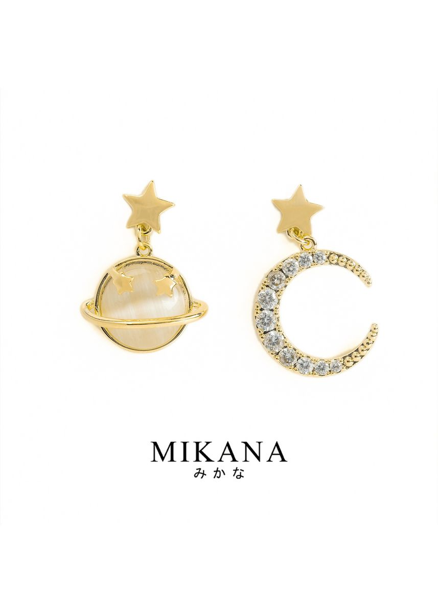 Gold color  . Mikana 18k Gold Plated Morning Star Jewelry Set Accessories For Women -