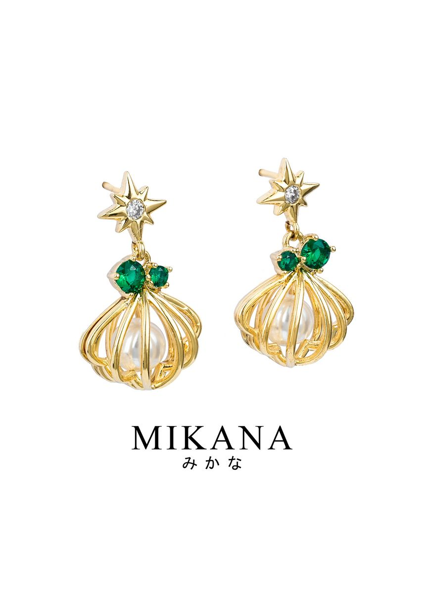 Gold color  . Mikana Princess Little Mermaid Ariel Dewdrop 18k Gold Plated Drop Earrings Accessories For Women -