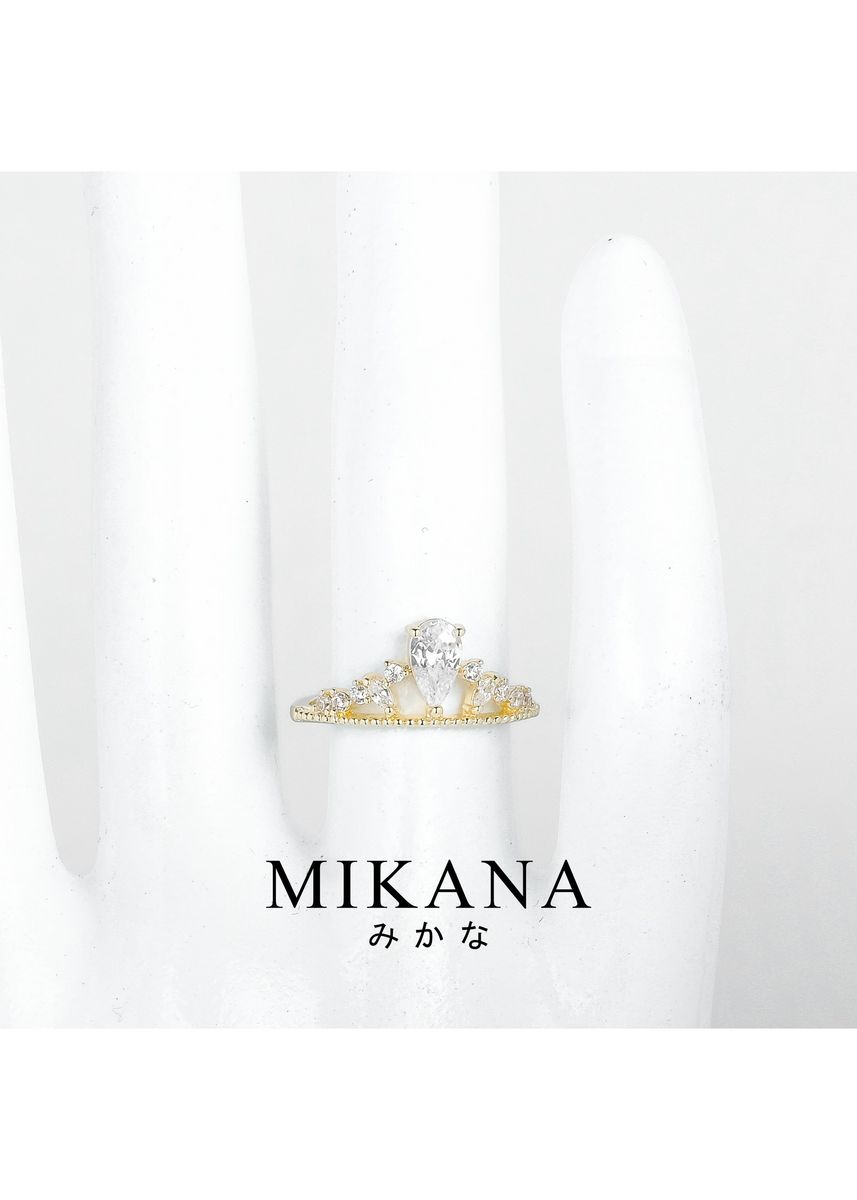 Gold color  . Mikana 18k Gold Plated Akishino Ring Accessories For Women -