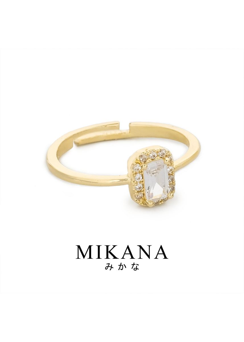 Gold color  . Mikana 18k Gold Plated Minabe Ring Accessories For Women -