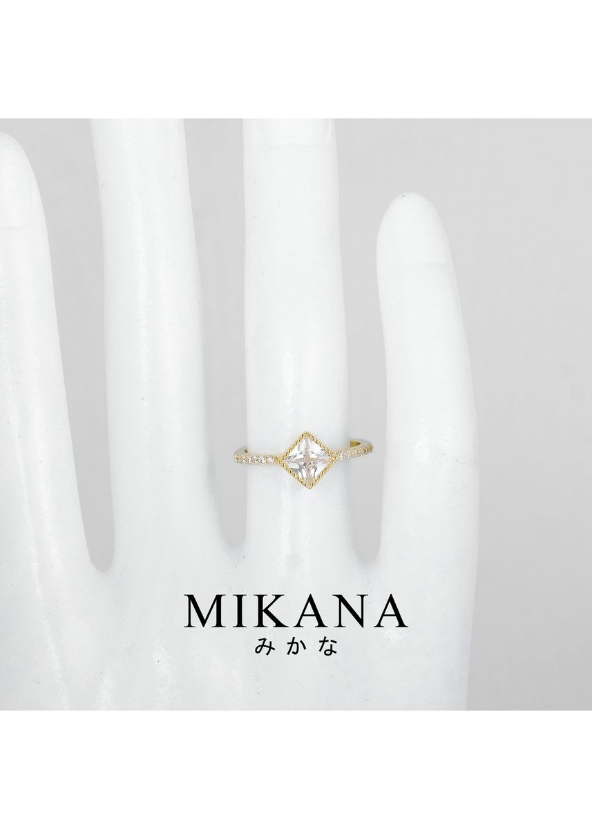 Gold color  . Mikana 18k Gold Plated Moriya Ring Accessories For Women -