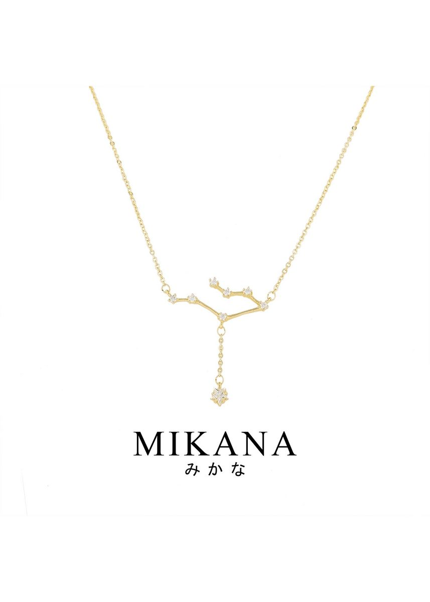 Gold color  . Mikana Constellation 18k Gold Plated Gemini Futago Pendant Necklace Accessories For Women -