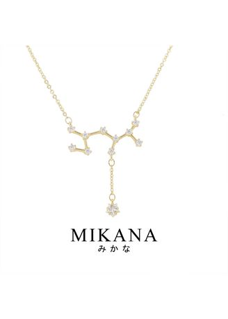 Gold color  . Mikana Constellation 18k Gold Plated Sagittarius Kairon Pendant Necklace Accessories For Women -