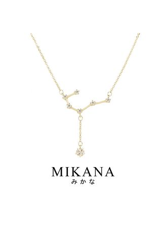 Gold color  . Mikana Constellation 18k Gold Plated Cancer Kani Pendant Necklace Accessories For Women -