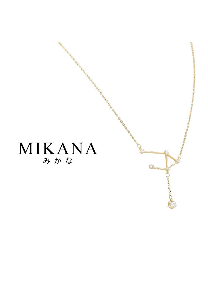 Gold color  . Mikana Constellation 18k Gold Plated Libra Masayoshi Pendant Necklace Accessories For Women -