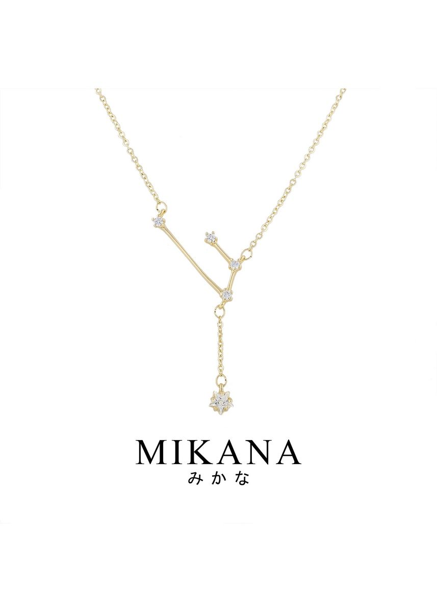 Gold color  . Mikana Constellation 18k Gold Plated Aries Senso Pendant Necklace Accessories For Women -