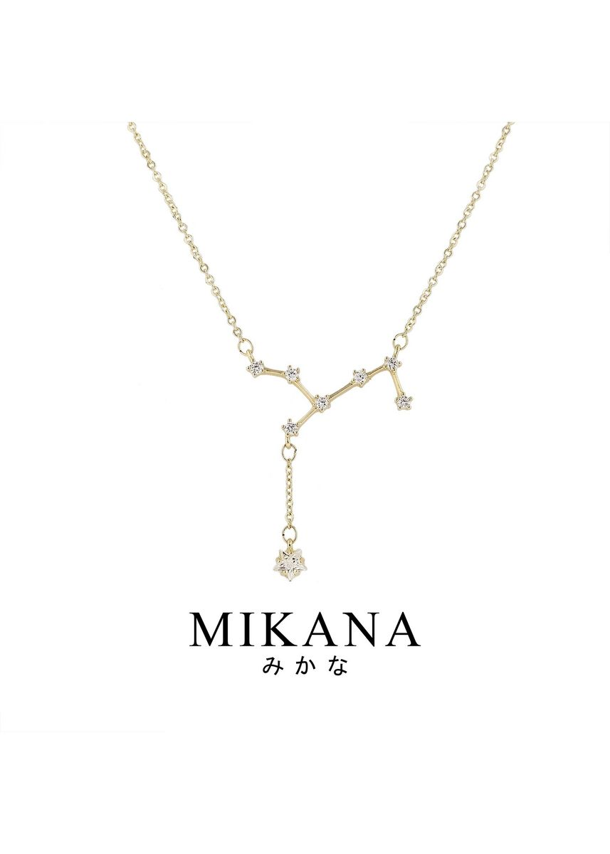 Gold color  . Mikana Constellation 18k Gold Plated Virgo Shukaku Pendant Necklace Accessories For Women -