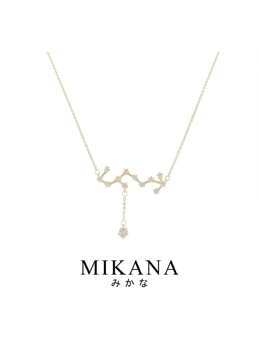 Gold color  . Mikana Constellation 18k Gold Plated Scorpio Umi Pendant Necklace Accessories For Women -
